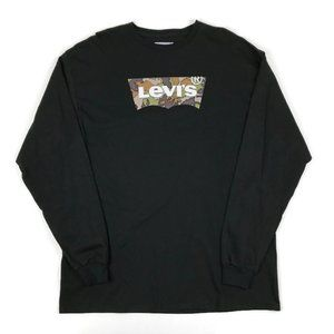 Levi's Long Sleeve Camo Graphic T-shirt Mens XL